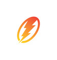 thunder electric logo vector image
