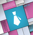 tie icon sign Modern flat style for your design vector image vector image