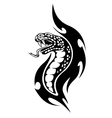 Viper tribal tattoo vector image vector image