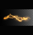 visual electricity effect vector image vector image