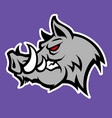 wild pig logo vector image vector image