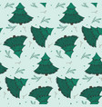 winter pattern with fir branches and snowflakes vector image vector image