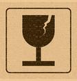 fragile symbol for cargo with grunge design vector image