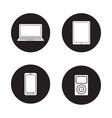 Modern gadgets black icons set vector image