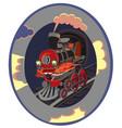 set of modern railway transport locomotives speed vector image