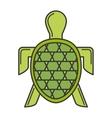 turtle sea silhouette icon vector image