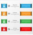 infographic stripes on white vector image