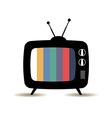 TV retro vector image