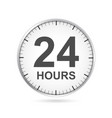 24 hours customer service icon vector image