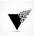 Abstract triangle with explosion on small