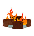 abtract nature campfire vector image vector image
