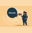 african american police woman planning action on vector image vector image