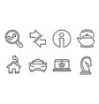 analytics taxi and teapot icons synchronize vector image