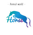 animal world horse jumping horse background vector image vector image