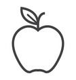 apple line icon food and fruit graphics vector image vector image
