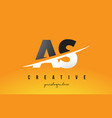 as a s letter modern logo design with yellow vector image vector image