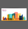 bergen city architecture silhouette colorful vector image vector image