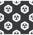 Black hexagon hazard pattern vector image vector image