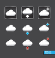 button with cloud icon vector image vector image