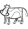 cartoon doodle of farm cow for coloring vector image vector image