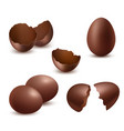chocolate eggs tasty food sweet shiny natural vector image