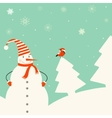 Christmas decoration with snowman vector image vector image