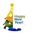 Christmas tree New Year banner elements vector image
