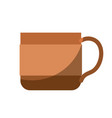 colorful silhouette of coffee cup without contour vector image vector image