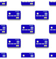 credit card pattern simple of credit vector image vector image