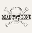 dead bone skull vector image vector image