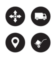 Delivery service black icons set vector image vector image