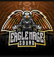 eagle magic esport mascot logo vector image