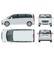 electric minivan with premium touches passenger vector image vector image