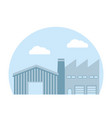 factory and warehouse vector image