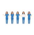 female nurse character set vector image vector image