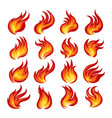 fire flame emblem set vector image vector image