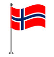 flag of norway vector image