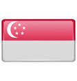 Flags Singapore in the form of a magnet on vector image
