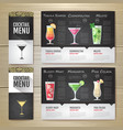 flat cocktail concept design corporate identity vector image vector image