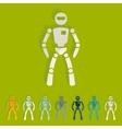 Flat design robot vector image