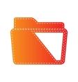 Folder sign Orange applique isolated vector image vector image