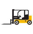 forklift vehicle icon vector image vector image