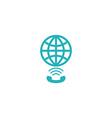 Globe link logo concept app social global network vector image