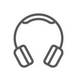 headphones electronic devices line icon vector image