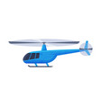 helicopter aircraft flying blue chopper air vector image