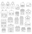 house digital stamps vector image