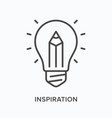 inspiration flat line icon outline vector image