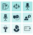 job icons set with effective teamwork self vector image vector image