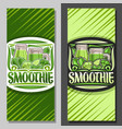 layouts for green smoothie vector image vector image