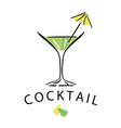 Logo cocktail glass with umbrella
